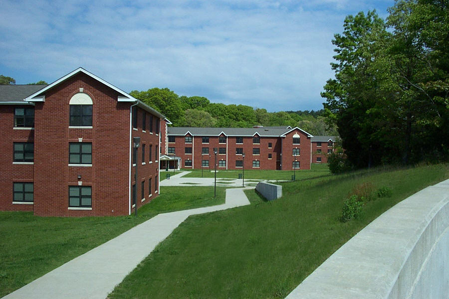 SUNY Old Westbury New Residence Project, Old Westbury, NY. Carman-Dunne, P.C. prepared a detailed topographic survey, mapping and design of roadway, utility and site improvements for a development of five dormitories on a 15 acre site.